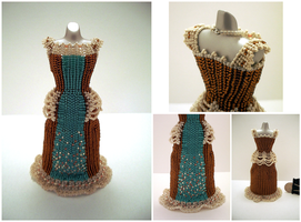 MyFirstCustom! Western Bead Dress by pinkythepink