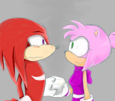 Knuckles n Amy by Ajir