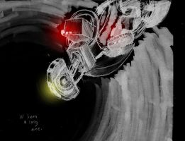 GLaDOS sketch by incongruousinquiry