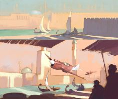 Once upon a time in Babylonia-sketches by DimMartin