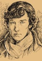Sherlock Drawing by SarahSoak