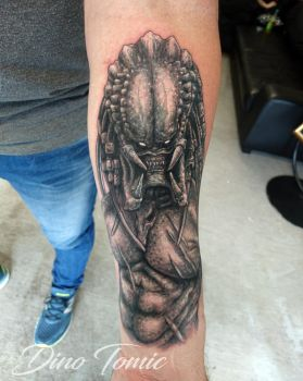 Predator Cover up  Tattoo by AtomiccircuS