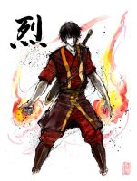 Zuko with calligraphy by MyCKs