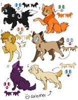6 Dog Adopts -OPEN- by PannyPan