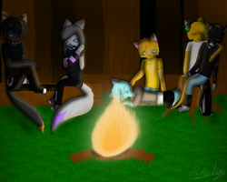 Around the campfire by Sisa611