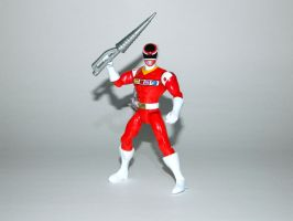 Red Space Ranger Action Hero by LinearRanger