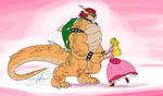 Doodle - Peach and Bowser by SpottedAlienMonster