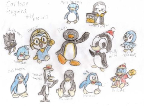 Collage of Cartoon Penguins by MamonStar761