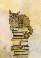 Librarian Cat by eve-bolt