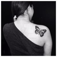 Butterfly Tattoo by TheArtistKevin