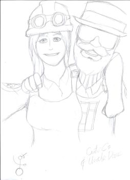 TF2 Fanart! CuteC3 and Uncle Dane by FrontierArtist