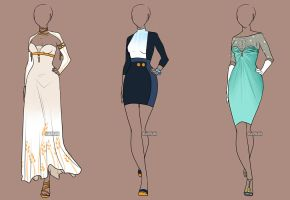 Fashion Adoptables Auction 3 - CLOSED by Karijn-s-Basement
