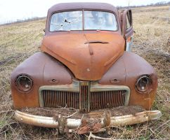 1942 Ford Super Deluxe, front by theshepherd1