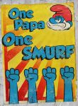 One Papa, One Smurf - Old Poster by inkedicon