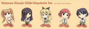 Katawa Shoujo Keychain Set by hanako21