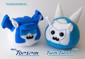 Puggleformers - IDW Topspin and Twin Twist by callykarishokka