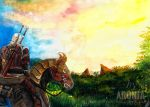 Riding Into The Sunset by Aronja