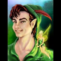 Peter Pan and Tinkerbell by Beralismo
