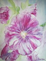 Spring Hollyhock by WhimsicalSJane