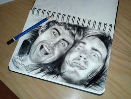 Pewdiepie and Cinnamontoastken speed drawing! by ElixColfer