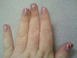 Candy Cane French Tip by tink502