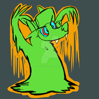 slime(Halloween) thingy by lucariotails95