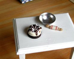 Malted Milk Ball mini cake by Miss-Millificent
