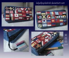 Flag pencilcase by LadyOfPsychoBirds