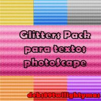 Pack Glitters para textos PNG con PhotoScape by debs89twilightymas