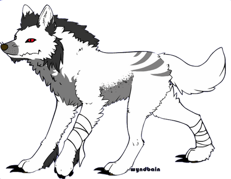 [SOLD] Wolf Adoptable - 10 points by Gingerpatch-59
