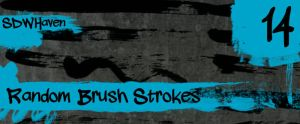 Random Paint Strokes Brushes by sdwhaven
