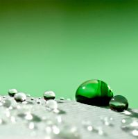 Green droplet by AJLockland