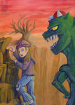 Dinosaur Kid by DoubleDandE