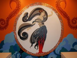 Erte mural complete by DaveRichardsonArt