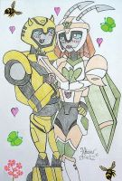 Springtime For Bumblebee + Jadebutterfly by HealerCharm
