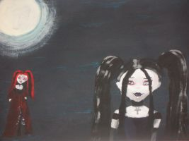 Living Dead Dolls Painting by Sombrelys