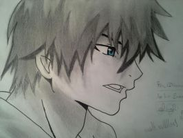 Rin Okumura, from Ao no Exorcist with shading by delPuertoSisters