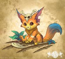 Gnar - League of legends - Fanart by o0dzaka0o