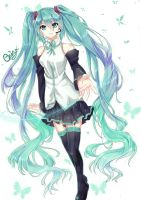 Miku hatsune~ by Diamond-Drops