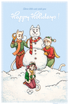 Christmas card 2016 - Three little cats by Hellypse