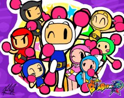 Super Bomberman R SpeedPaint by SailorBomber