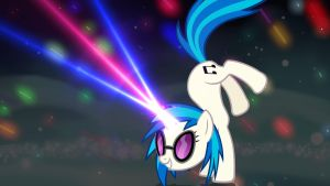 Vinyl Scratch Wallpaper by the-talkie-toaster