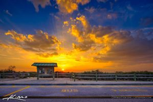 Juno-Dunes-Natural-Area-Sunset-at-Entrance-to-Park by CaptainKimo