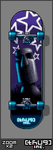 Star Moai Skateboard by thUg-inc