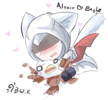 Altair loves Eagle by bwrose