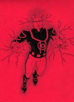 Guy Gardner as Red Lantern by jasonbaroody