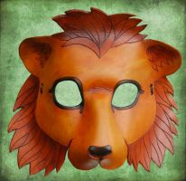 Leather Lion Mask by ContessaEsselia