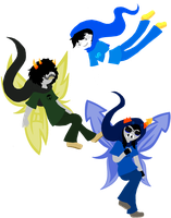 Homestuck- 'The Heirs' by Psycho-CandyAddicted