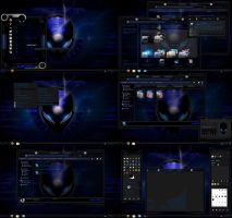 windows 7 theme blue alien glass by tono3022