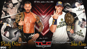 TLC Randy Orton vs John Cena Wallpaper by AccidentalArtist6511